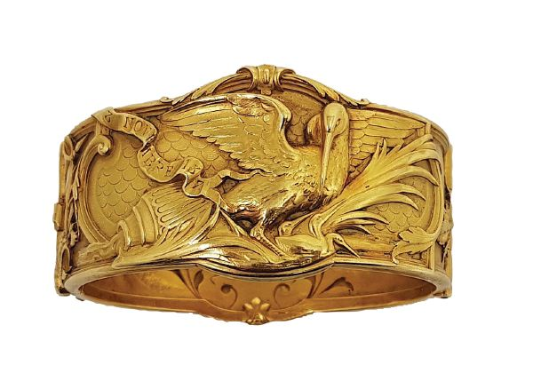 Bracelet or art nouveau exceptionnel vendu à Nîmes